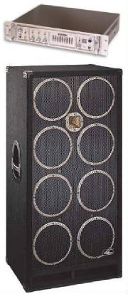 kustom Groove 1200hd Head and Beringer 8x10 Cab