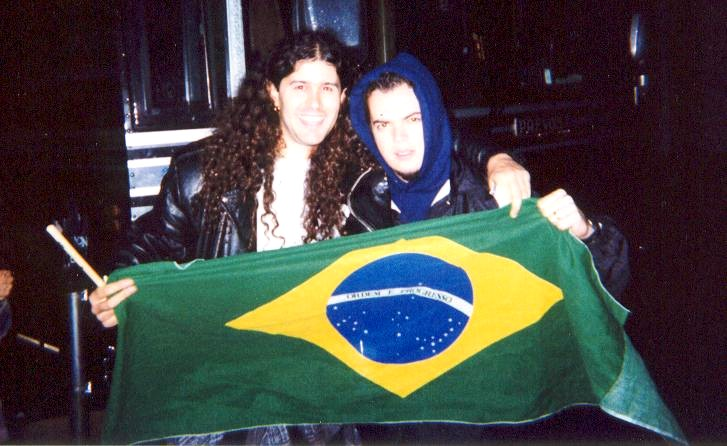 Leandro and Igor drummer of Sepultura 1999