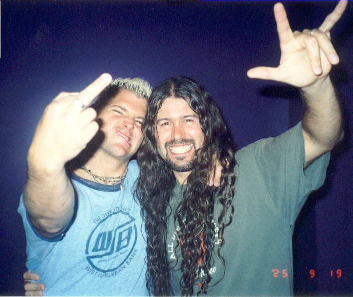 Leandro and guitarrist of Biohazard 2002