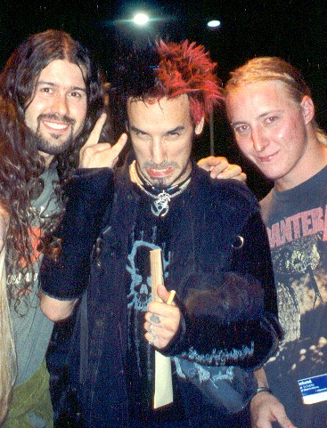 Leandro, Andy and drummer of Soulfly 2002
