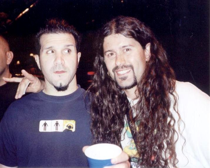 Leandro and Anthrax drummer Charlie Benante 080403