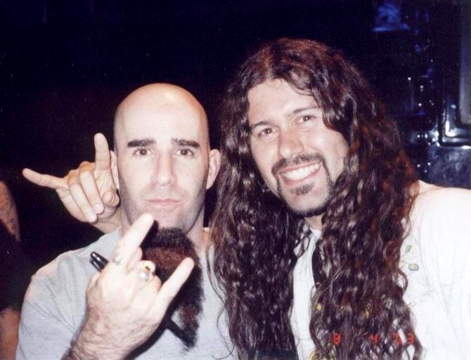 Leandro and Anthrax guitarist Scott Ian 080403