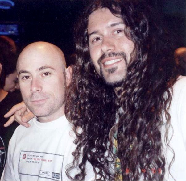 Leandro and Anthrax singer John Bush 080403